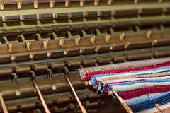 Pleating Made Faster (mslabrat13) Tags: brass cogwheel fabric macro needles pleater macromonday