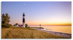 Big Sable Point At Dusk (Mark Darnell) Tags: bigsable ludingtonmi lighthouse place structure sunset