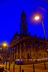 St Andrews In The Square, Glasgow. (rockyrutherford) Tags: glasgow church night lighting lights street square d7100 nikon
