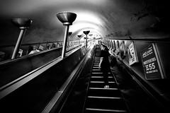 IMG_3070 (JetBlakInk) Tags: mono monochrome londonunderground subwaystation stairwell escalator pov artdeco trainstation tube