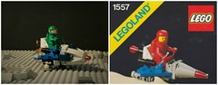1557 Scooter (jgg3210) Tags: lego classic space rocket moon astronaut astro satellite radar antenna robot crater grey gray rover 1980 1970 retro vintage minifigure minifigures moc