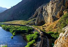 Maiden Rock on the Big Hole (DWHonan) Tags: unionpacific railroad train montana big hole river maiden rock canyon cliff rocks