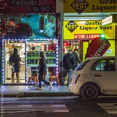 Kebab to Go rush hour - colour (MoiVous) Tags: nightshots winter auckland streetlife