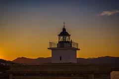 Faro de Punta de S'Arenella (kinojam) Tags: faro mar sea sunset atardecer kino kinojam canon canon6d costabrava portdelaselva