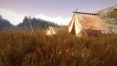 Whiterun Hunter Camp (Immersaholic) Tags: skyrim oldrim skyrimheavilymodded oldrimheavilymodded hunter enb campsite environment immersion whiterun morning