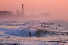 Surfing at sunset - Tel-Aviv beach - Follow me on Instagram:  @lior_leibler22 (Lior. L) Tags: surfingatsunsettelavivbeach surfing sunset telaviv beach surfer surfers telavivbeach israel
