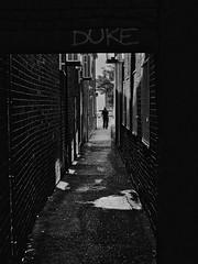 duke (Mallybee) Tags: stphotographia mirrorless manualfocus brigg graffiti duke streetphoto oldlens dcg9 g9 lumix panasonic mallybee optomax 35mm f28 alleyway bw blackwhite