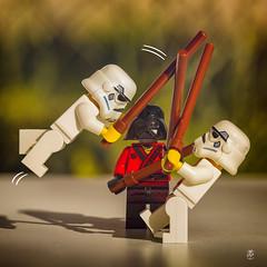 Banzai!!! (shoube) Tags: 88 vosges lorraine dommartinsurvraine 7d legographie legography legographe minifigurine figurine afol canon 100mm 100mmmacro starwars darth darthvador darthvader stormtrooper