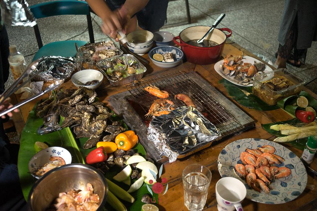 最奢華的中秋烤肉組 海鮮大集合之 龍膽石斑、泰國蝦、蚵、大卷 |小農聯盟33