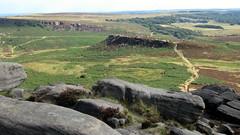 Carlswark from Higger Tor (travelisima) Tags: peakdistrict longshaw moorland moors gritstone rocks landscape