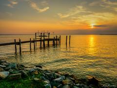 Chesapeake Bay Sunset (jiroseM43) Tags: sunset chesapeakebay olympus em1markii m43 1240mm water