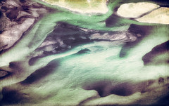 turquoise river in Iceland run through the photo apps Stackables and Snapseed (elizabatz.jensen) Tags: water abstract aqua river iceland photoapp stackables snapseed