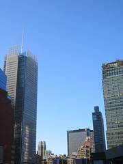 2018 September Bright Cloudless and Virtual Clock 0536 (Brechtbug) Tags: 2018 september bright cloudless virtual clock tower from hells kitchen clinton near times square broadway nyc 09162018 new york city midtown manhattan autumn weather building no hanging cumulonimbus cumulus nimbus cloud fall hell s nemo southern view ny1