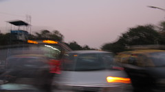 Creative Blur (liamfoden) Tags: indiaandrome creative blur india mumbia bombay movement traffic busy light shutter speed asia cars buses road sky warm october autumn evening sun set sunset colours canon fast slow sx200is