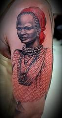 African beauty (Ozzy Borneo) Tags: ozzy borneo tattoo africa woman arm pattern tribe carpediem yogyakarta jogja indonesia jogjatattoo
