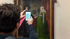 Camera phone and Van Eyck's The Arnolfini Portrait