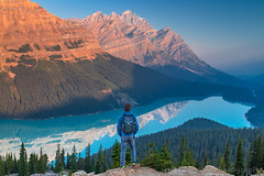 Sunrise @ Peyto Lake, Banff National Park, Alberta, Canada (Feng Wei Photography) Tags: peytolake traveldestinations sunrise dramaticlandscape landmark female banffnationalpark famousplace tranquilscene scenery turquoise banff outdoors canadianrockymountains horizontal canadianrockies mountain tranquil highangleview scenics rockymountains tourist breathtaking unesco idyllic beautyinnature travel alberta landscape colorimage canada panorama tourism bowsummit northamerica ca