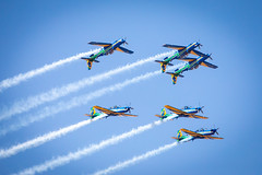 Smoke squadron (Fabiosantos25) Tags: esquadrilhadafumaça esquadrilha 5dmkiv ef100400isii ef100400mmisii ef100400ii 7desetembro setedesetembro independencia smokesquadron supertucano avião plane sky blue azul brasil brazil