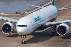 EVA AIR B777-300ER B-16713 0021 (A.S. Kevin N.V.M.M. Chung) Tags: aviation aircraft aeroplane airport macauinternationalairport mfm plane spotting evaair boeing b777 b777300er worldliner airlines closeup