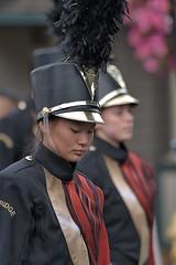 High School Marching Band Uniform (Scott 97006) Tags: parade uniforms march plume helmet woman female pretty