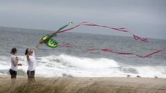 Kite flying near the ocean (LennyNJ) Tags: nikond500 jerseyshore nj newjersey bradleybeach kites atlanticocean