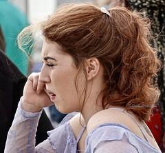 HeadPhone (Hodd1350) Tags: bournemouth bournemouthpier dorset redhead onthephone profile talking listening sony sonyrx10iv sonymirrorlesscamera
