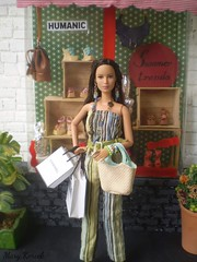 Shopping Plaza (Mary (Mária)) Tags: az challenge wedge heel shoes summer trends outfit fashion doll handmade diorama miniatures showcase lindex humanic katniss thehungergames marykorcek