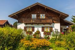 HWW! from Chiemgau, Germany (suzanne~) Tags: farmhouse flower garden balcony window bavaria germany