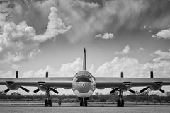 Keeping the Peace (Ross Dinsdale) Tags: pasm strategicaircommand convairb36 monsoon pimaairandspacemuseum peacemaker clouds usaf b36peacemaker convairb36peacemaker unitedstatesairforce nikcollection b36 arizona convair airforce tucson monsoon2018 monochrome
