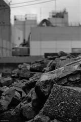 Demolition (RunnyInHongKong) Tags: vuescan nikoncoolscan9000 nikkor50mmf14g film blackwhite kodaktmax400 nikonf100 japan tokyo minatoku