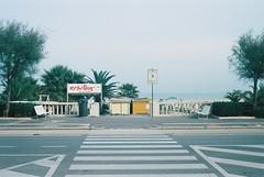 Rimini (goodfella2459) Tags: nikonf4 kodakektar100 35mm c41 film analog colour rimini italy road streets trees beach manilovefilm