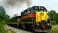 IAIS703-2-wave (joerussell2) Tags: trains steam locomotive iowa interstate iais