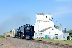 844 Through Peckham (MikeArmstrong) Tags: trains union pacific steam locomotive 844 4014 wyoming colorado 1943 cheyenne frontier days