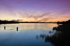 Evening glow on Lough Erne. (carolinejohnston2) Tags: posts lough fermanagh northernireland dusk afterglow