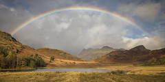 Blea Tarn and The Langdales (Kathy ~ FineArt-Landscapes) Tags: lakedistrict lakeland langdales rainbow britain mountains weather atmospheric beauty cloud england fineart greatbritain hills landscape nature cumbria