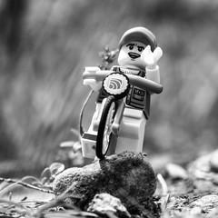 ride here - ride now (genelabo) Tags: bike bicycle fahrrad radl schwarz weiss blck white lego minifigure minifig toy outdoor stone stein isar sylvenstein bayern bavaria canon g16 square quadrat