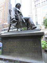 Horace Greeley Statue in Greeley Square Park NYC 9976 (Brechtbug) Tags: horace greeley seated statue 02031811 11291872 american editor leading newspaper founder republican party reformer politician his new york tribune was most influential from 1840 1870 besides having creepy neck beard used it promote whig parties square park manhattan near macys herald midtown nyc 2018 city 09032018