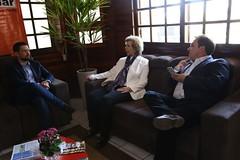 28/08/18 - Visita a 41ª Expointer em Esteio. Com o prefeito de Esteio, Leonardo Pascoal e o prefeito de Rio dos Índios, Salmo Dias.