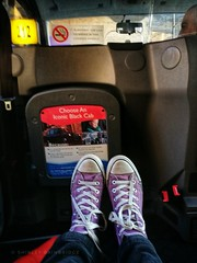 Purple Street Feet feat. the taxi home (The Neepster) Tags: purplestreetfeet purpleconverse taxi hackneycarriage blackcab cab feetup huaweip9 mobile