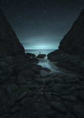 A Quiet Place (www.neilburnell.com) Tags: night stars starscape nightscape landscape seascape skyscape conceptual southhams devon england bolthead ngc