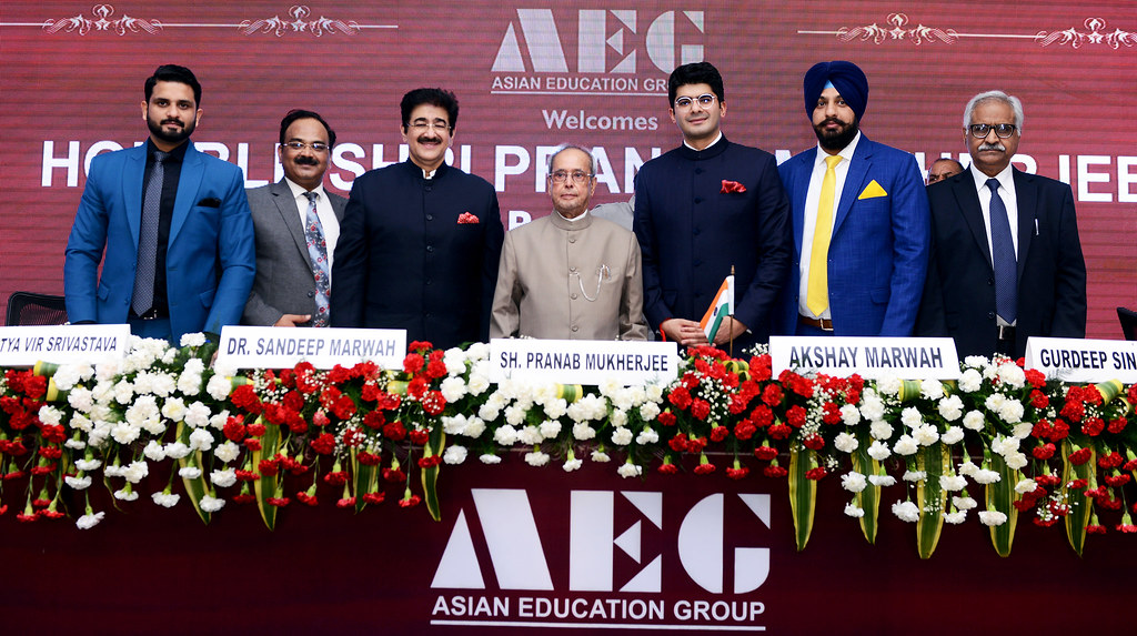 Shri. Pranab Mukherjee at Asian Education Group