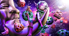 Galaxy miracles (meriluu17) Tags: moonamore boudoir galaxy universe planeths asteroid surreal fantasy fly moon kitty octokitty purple violet wondering wonder