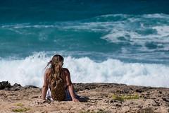Guardando il mare (1) (rafpas82) Tags: favignana macuto mare sea eagadi island isola onde waves mediterraneo mediterraneansea sicilia isoleegadi sicily italia italy coast costa mareagitato watching vento capelli blu fuji xt20 55200fujinon fuji55200 fujifilmxt20