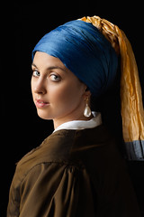 Girl With a Pearl Earring (Nick Loven) Tags: vermeer portrait delft dutch masters tableau vivant girl with pearl earring ear ring