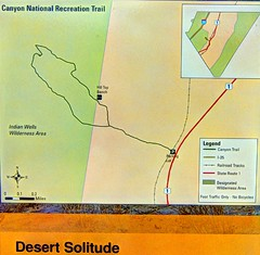 Solitude Canyon Trail Map (JoelDeluxe) Tags: solitudecanyon national trail bosquedelapachenwr nationalwildliferefuge nm newmexico socorro landscape panorama hdr cloudy skies hiking september 2018 joeldeluxe