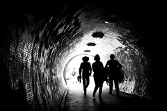 Where would you go with a lasso? (parenthesedemparenthese@yahoo.com) Tags: dem 2018 bn backlighting femme hongrie hungary magyarorszag men monochrome nb noiretblanc silhouettes street textures tunnel woman blackandwhite bnw budapest byn canon600d channel chapeau contrejour cowboy ef24mmf28 grandcontraste hat highcontrast hommes lasso september septembre streetphotography