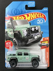 Mattel Hot Wheels - 50 Anniversary -  HE Hot Trucks - Number 7 / 10 - Land River Defender Double Cab - Miniature Diecast Metal Scale Model Vehicle (firehouse.ie) Tags: 2018hotwheels hottrucks 2015landrover 2015 hotwheels2018 landroverdefender defender doublecab truck pickup coche car atv suv 4x4 britishleyland rovergroup bl rover landie landrover diecast models model miniatures miniature metal hotwheels hw mattel