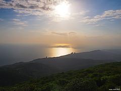 Sunset (karlbekk) Tags: sunset sea sky mountain clouds sun reflection outdoor nature myplanet olympus olympuspenepl6
