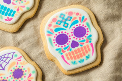 Homemade Mexican Sugar Skull Cookies (brent.hofacker) Tags: autumn background baked biscuit black calavara candyskullcookies colorful cookie dayofthedead decorated decoration dessert diadelosmuertos food fun halloween halloweencookies holiday homemade iced icing mexican muertos nobody party plate pumpkin scary seasonal skeleton skull skullcookie skullcookies spooky sugar sugarskull sugarskullcookie sugarskullcookies sugarskulls sweet treat
