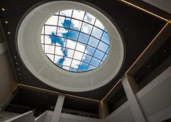 A window to the outside world (harald.bohn) Tags: vindu window himmel sky skyer clouds library bibliotek building bygning bygg architecture arkitektur lille university france